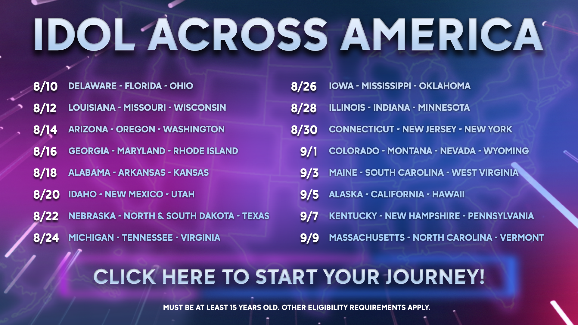 Idol Across America Virtual Tour: Sign Up Now! - American Idol