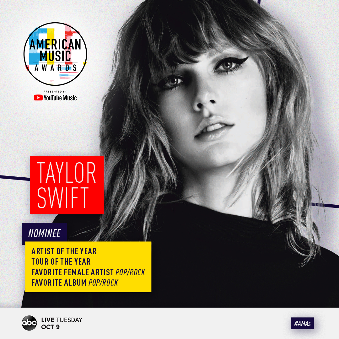 Global Superstar Taylor Swift To Open The 2018 American Music Awards