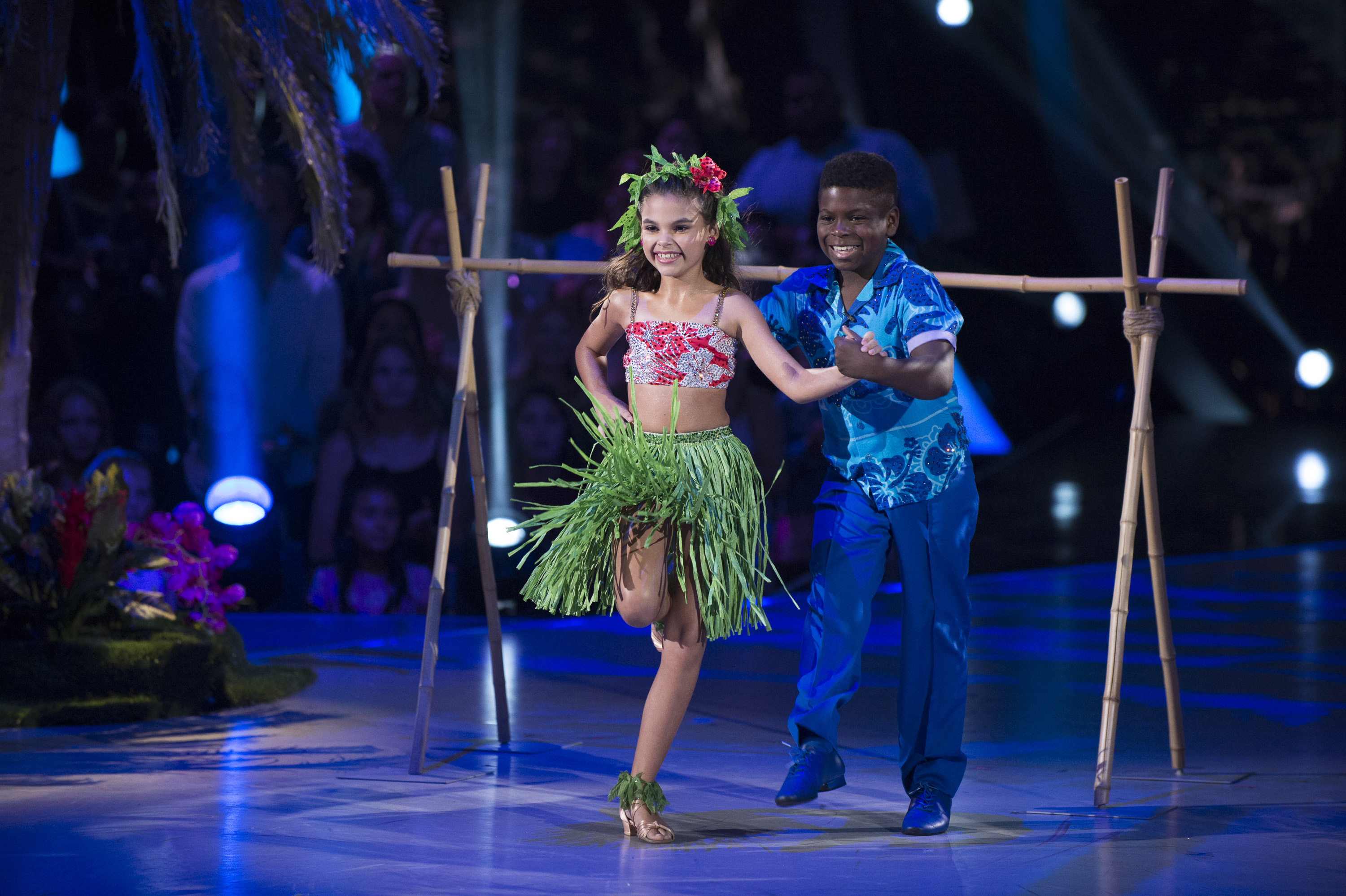 Kids dancing together in a competition
