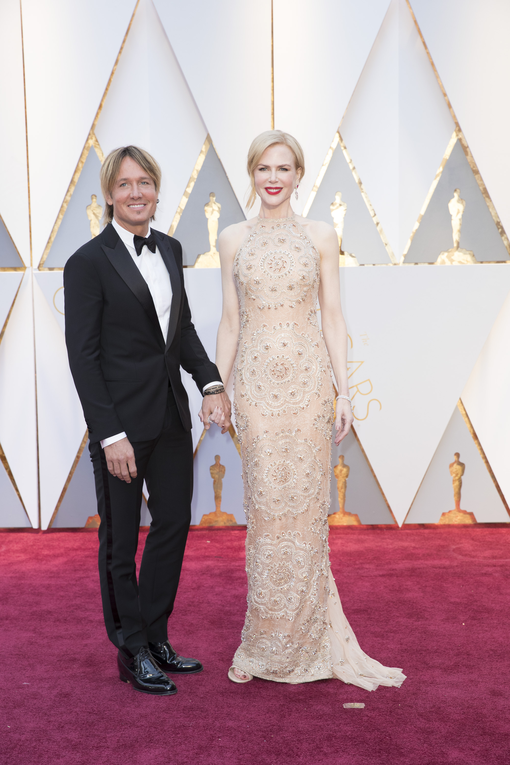 Keith Urban and Nicole Kidman attend the 2017 Oscars
