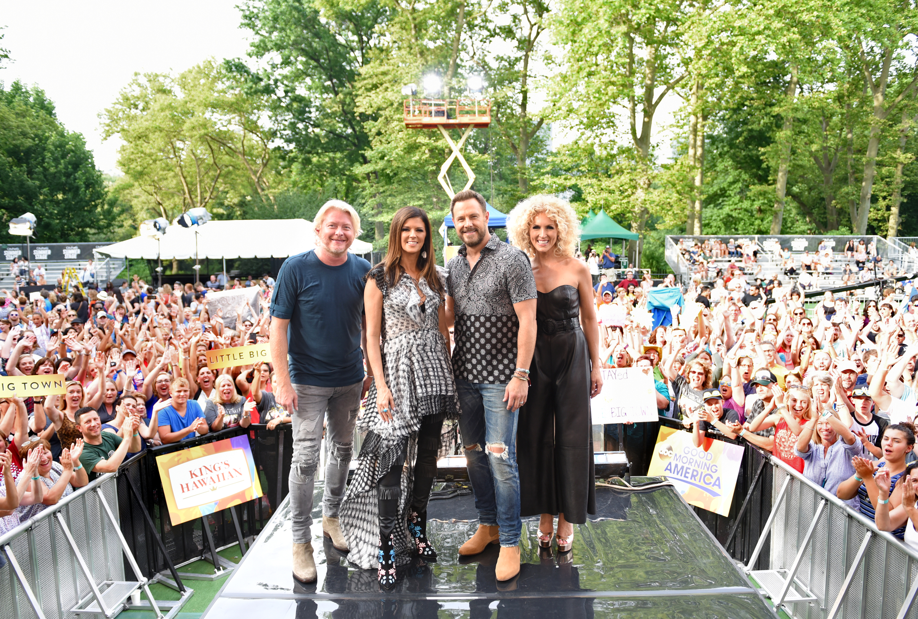 Little Big Town perform at the GMA Summer Concert Series